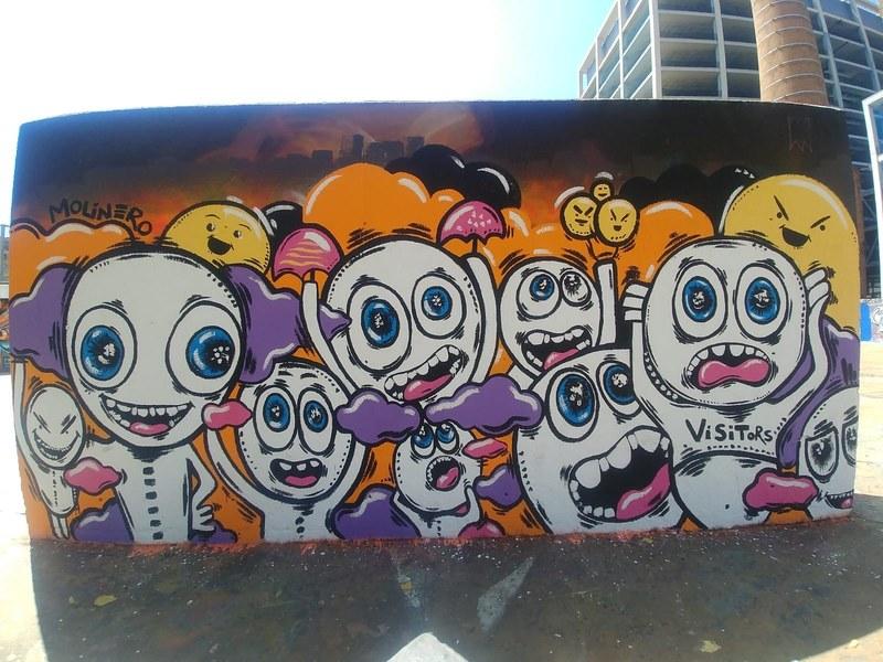 Wallspot - natalia molinero - Tres Xemeneies - natalia molinero - Barcelona - Tres Xemeneies - Graffity - Legal Walls - Illustration