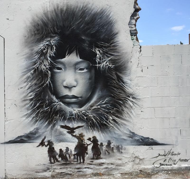 Wallspot - David Villaecija - The Golden Eagle Hunting - Barcelona - Poble Nou - Graffity - Legal Walls - Il·lustració, Altres
