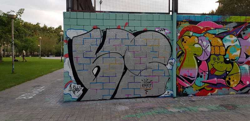Wallspot - KSKONE - KS ft. Buddy - Barcelona - Drassanes - Graffity - Legal Walls - Letters, Illustration