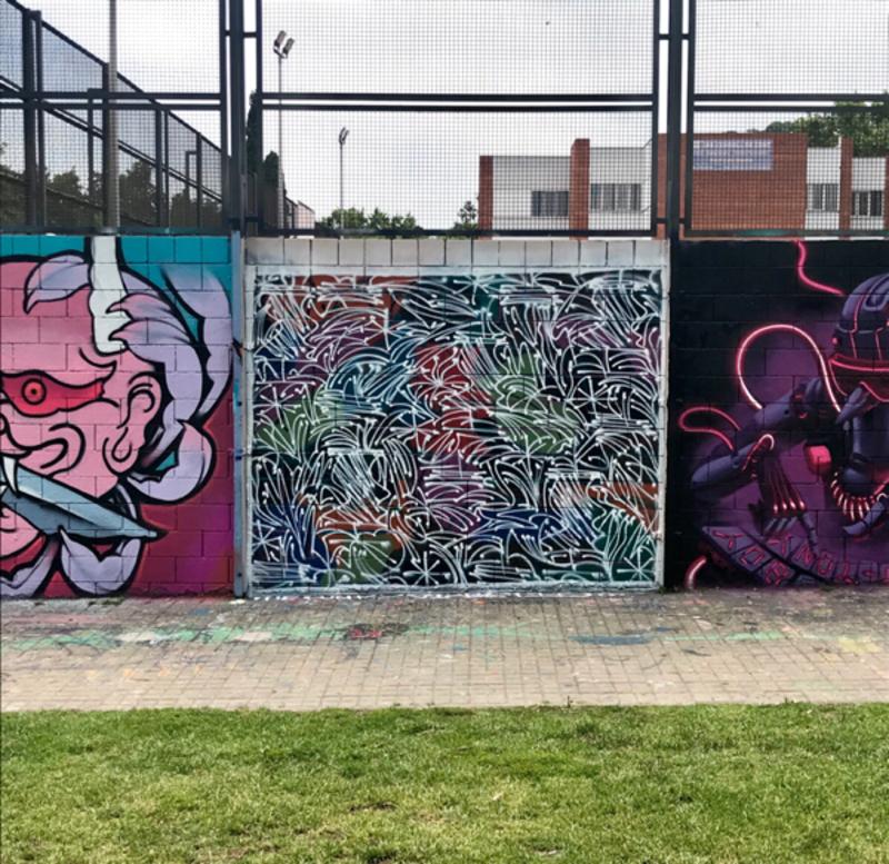 Wallspot - the funky diabetic - Barcelona - Forum Place - Graffity - Legal Walls -