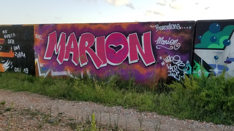 Wallspot - Web One - Forum Beach visit from America - Barcelona - Forum beach - Graffity - Legal Walls - Lletres, Il·lustració