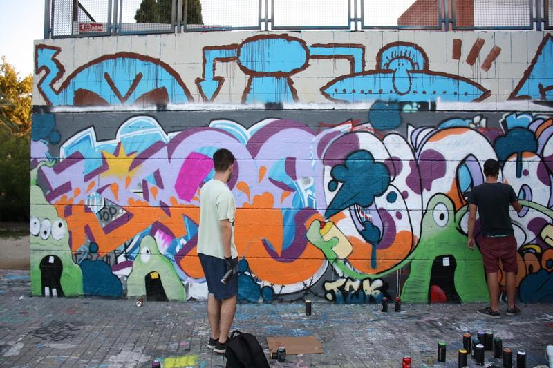 Wallspot - KSKONE - KSKONE ft. Cloos - Barcelona - Drassanes - Graffity - Legal Walls - ,
