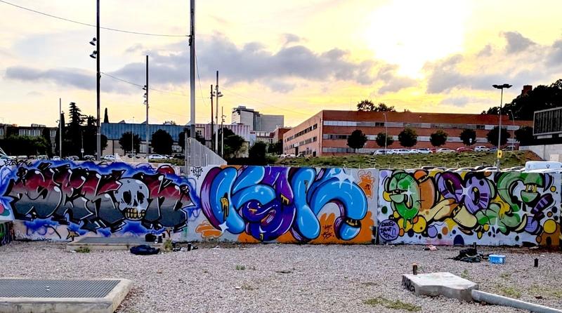 Wallspot - KSKONE - KSK ft. Cloos & Sekon - Barcelona - Parc de la Bederrida - Graffity - Legal Walls -