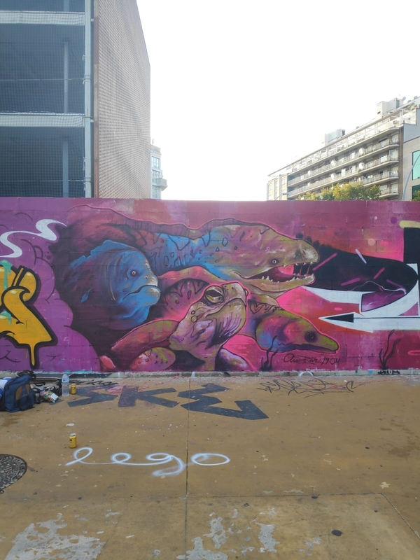 Wallspot - Aram'rah - Tres Xemeneies - Barcelona - Tres Xemeneies - Graffity - Legal Walls - ,