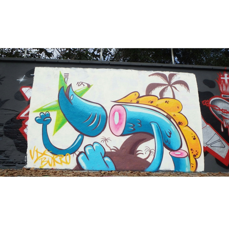 Wallspot - v de burro - Tropical Trip - Barcelona - Agricultura - Graffity - Legal Walls -