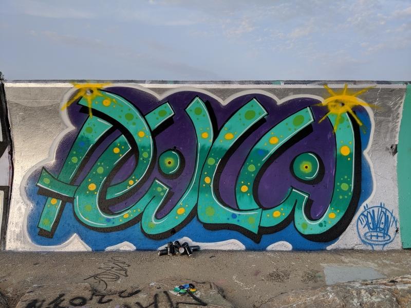 Wallspot - Powlow - Barcelona - Forum beach - Graffity - Legal Walls - Lletres