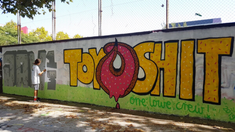 Wallspot - Super G - Toy Shit & Jaw13 / One Lowe Crew - Barcelona - Agricultura - Graffity - Legal Walls - ,