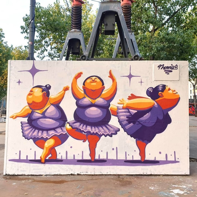 Wallspot - THOMÀS - Tres Xemeneies - THOMÀS - Barcelona - Tres Xemeneies - Graffity - Legal Walls -