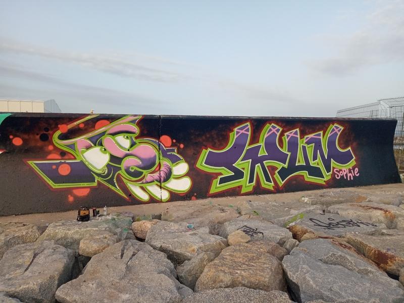 Wallspot - THATSKUM - Barcelona - Forum beach - Graffity - Legal Walls -