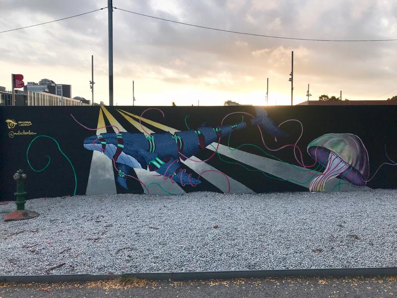 Wallspot - owlschoolcrew - V a p o r w h a l e.  day II - Barcelona - Parc de la Bederrida - Graffity - Legal Walls - Il·lustració