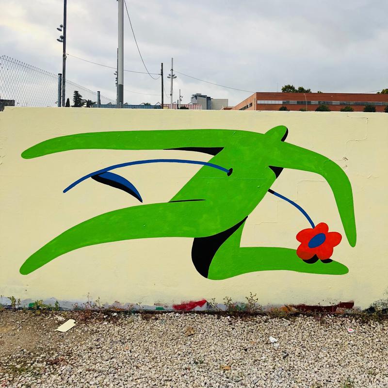 Wallspot - Jocelyn Tsaih - shot through the heart  - Barcelona - Parc de la Bederrida - Graffity - Legal Walls - Il·lustració