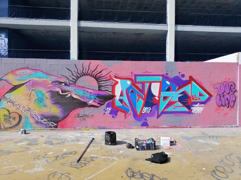 Wallspot - Aram'rah - Tres Xemeneies - Barcelona - Tres Xemeneies - Graffity - Legal Walls - Illustration
