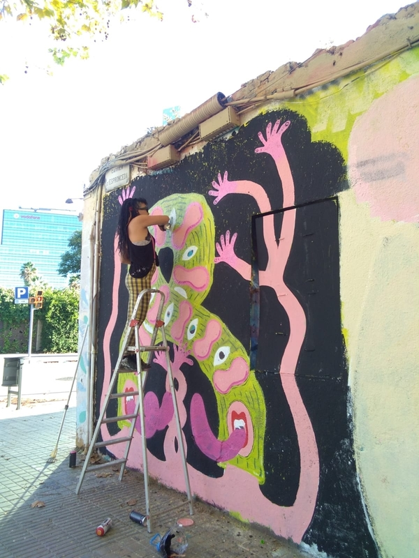 Wallspot - #chochopower - Barcelona - Western Town - Graffity - Legal Walls -