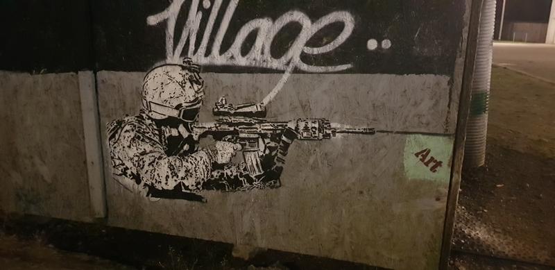 """Wallspot - V2k - """"Art Killer""""  - Aberdeen - Donside Village - Graffity - Legal Walls - Stencil"""