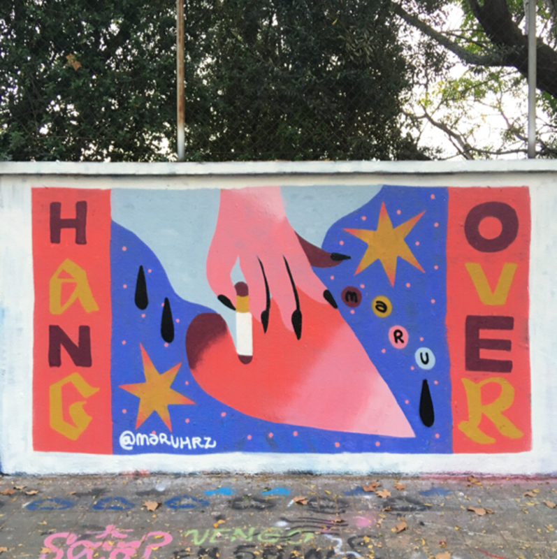 Wallspot - Maruhrz - HangOver - Barcelona - Agricultura - Graffity - Legal Walls - Lletres, Il·lustració