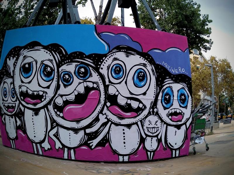 Wallspot - natalia molinero - Visitors- natalia molinero - Barcelona - Tres Xemeneies - Graffity - Legal Walls - Ilustración