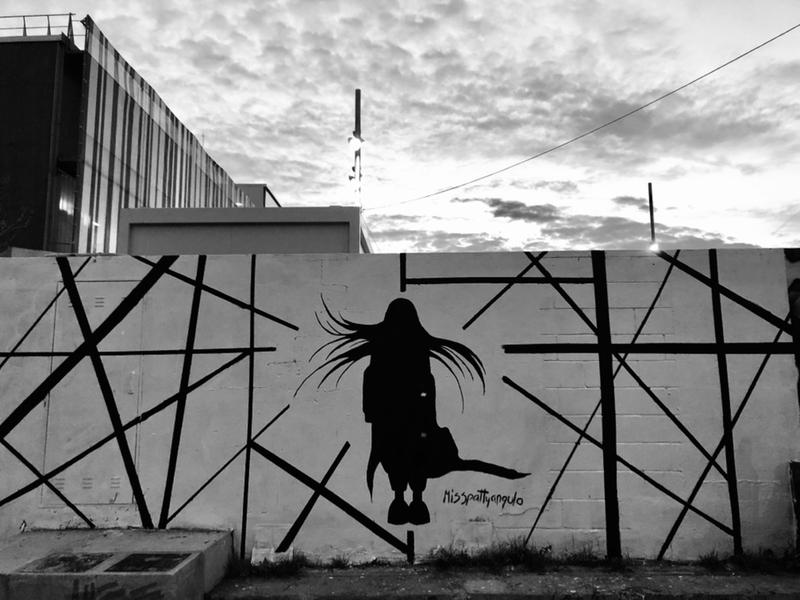 Wallspot - Misspattyangulo - Barcelona - Parc de la Bederrida - Graffity - Legal Walls -