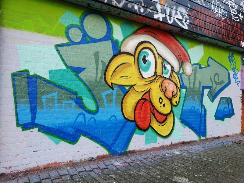 Wallspot - TopCat Design - christmas month - Rotterdam - Croos - Graffity - Legal Walls - Letters, Illustration