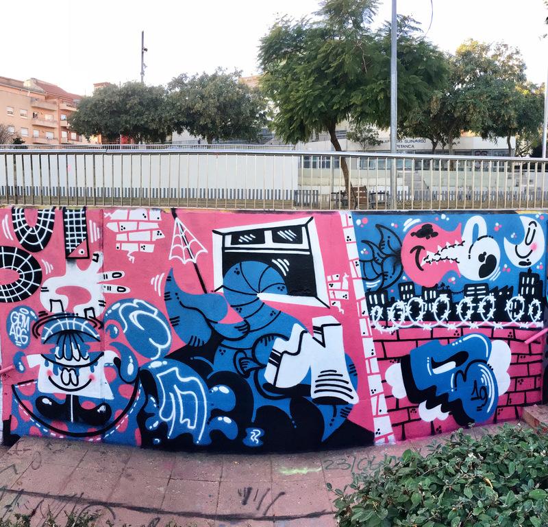 Wallspot - Fondr - Mas Guinardó - Foner - Barcelona - Mas Guinardó - Graffity - Legal Walls - Lletres, Il·lustració