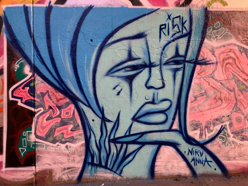 Wallspot - nirv_anna - take a risk or loose the chance - Barcelona - CUBE tres xemeneies - Graffity - Legal Walls -