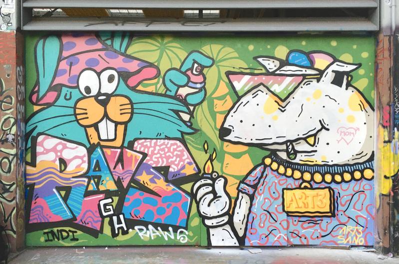 Wallspot - art3sano - Tres Xemeneies  - Barcelona - Tres Xemeneies - Graffity - Legal Walls - Lletres, Il·lustració