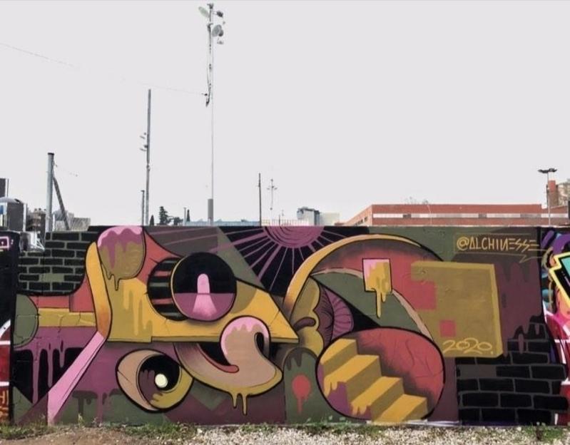 Wallspot - alchinesse - Parc de la Bederrida - Barcelona - Parc de la Bederrida - Graffity - Legal Walls -