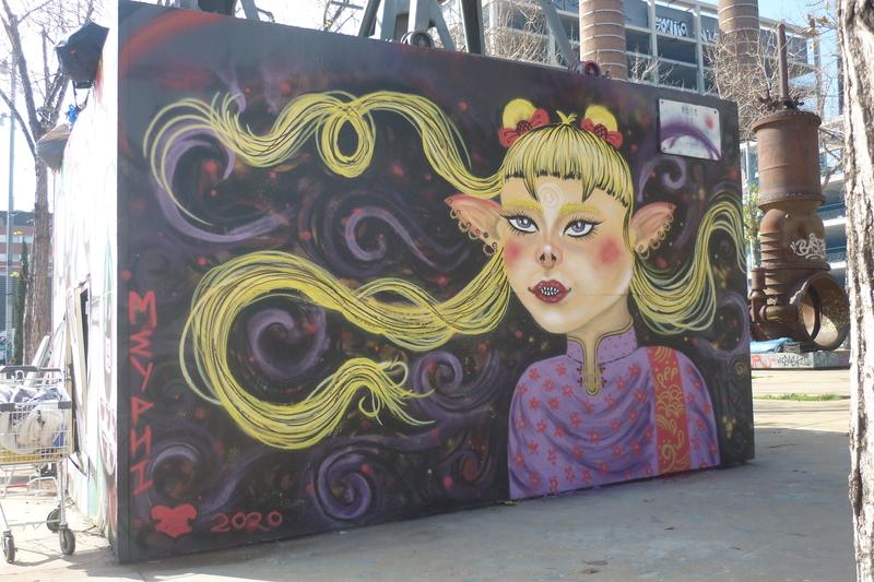 Wallspot - meyphi - Tres Xemeneies - meyphi - Barcelona - Tres Xemeneies - Graffity - Legal Walls -