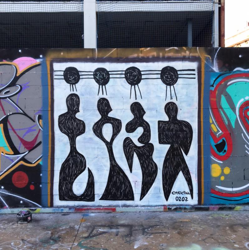 Wallspot - erratic - Barcelona - Tres Xemeneies - Graffity - Legal Walls - ,