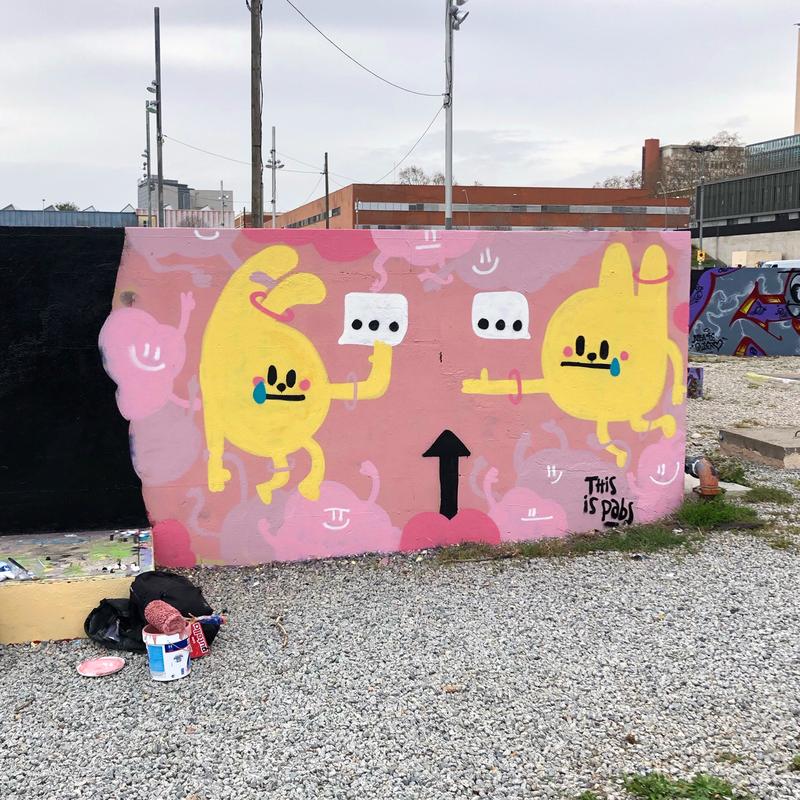 Wallspot - pabs - puntos suspensivos - Barcelona - Parc de la Bederrida - Graffity - Legal Walls - Illustration