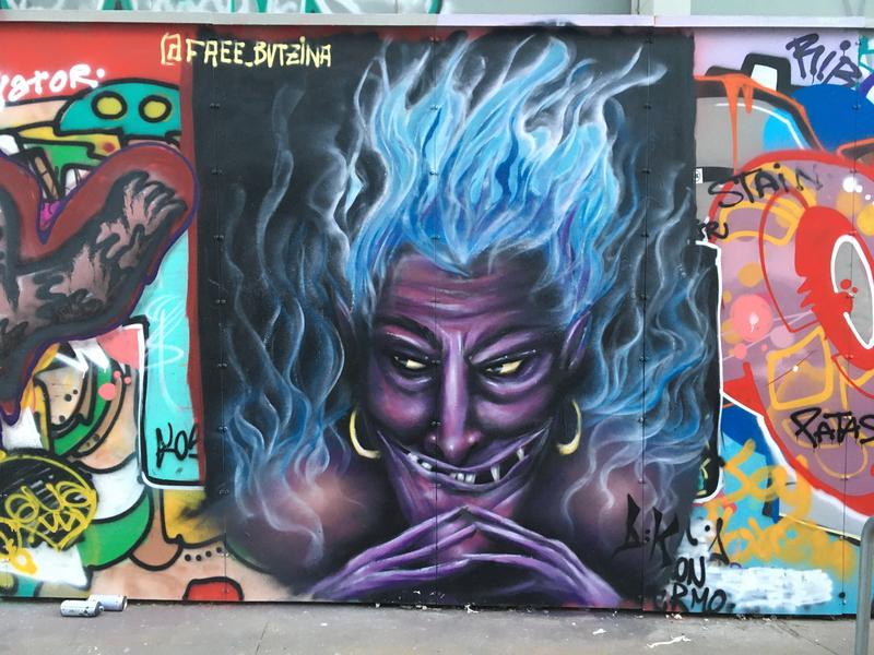 Wallspot - B:K - HADES fanart - Barcelona - CUBE tres xemeneies - Graffity - Legal Walls -