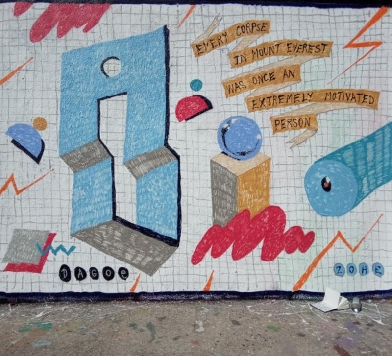 Wallspot - dagoe - wisdom - Barcelona - Selva de Mar - Graffity - Legal Walls - Il·lustració