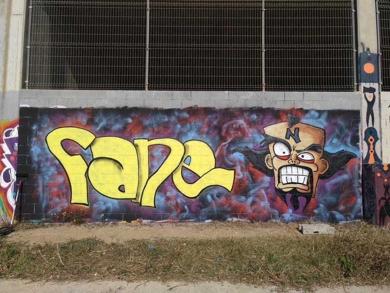Wallspot - FANE_BCN - Neo Cortex - Barcelona - Forum Place - Graffity - Legal Walls - Lletres, Il·lustració