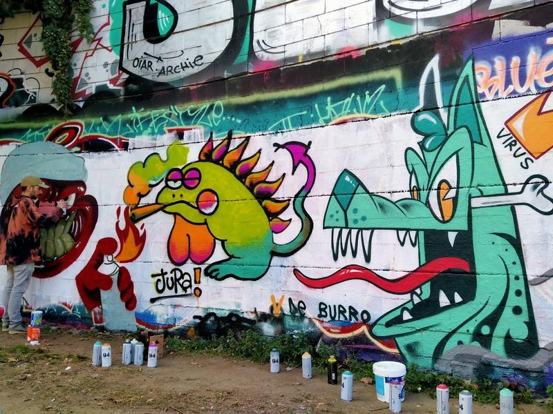 Wallspot - v de burro - Barcelona - Selva de Mar - Graffity - Legal Walls -