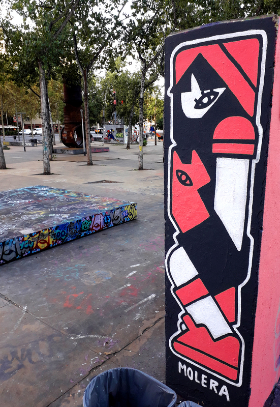 Wallspot - MOLERA - Noia i gat - Barcelona - Tres Xemeneies - Graffity - Legal Walls - Illustration