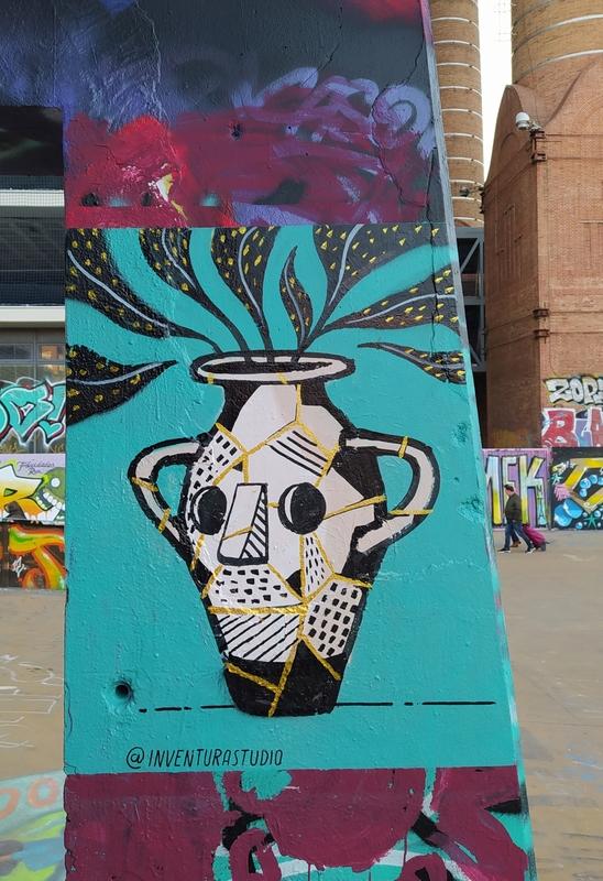 Wallspot - Inventura Studio - Kintsugi - Barcelona - CUBE tres xemeneies - Graffity - Legal Walls - ,