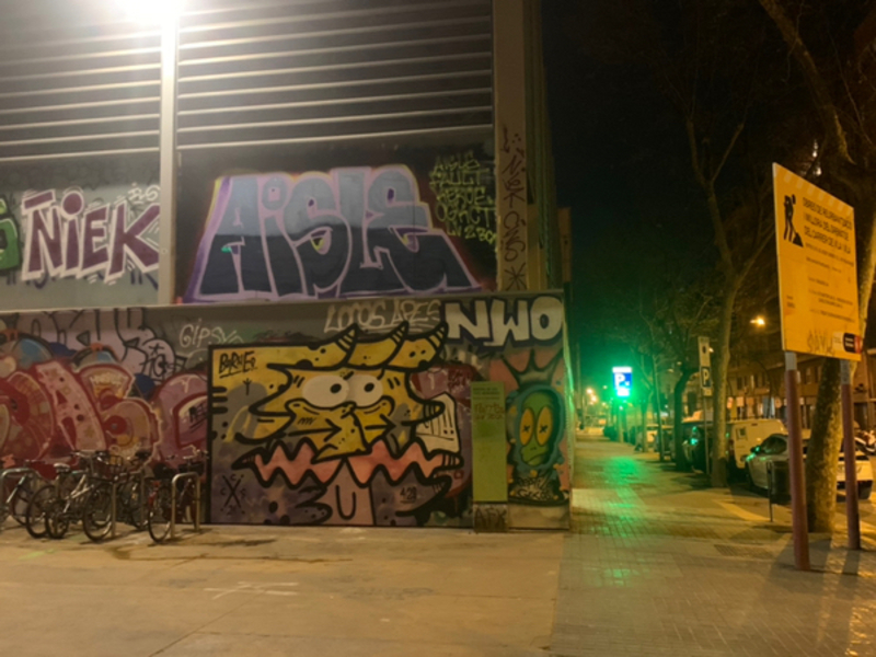 Wallspot - aislekct - Barcelona - Tres Xemeneies - Graffity - Legal Walls -