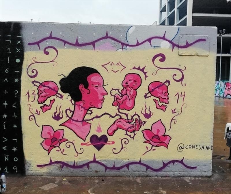 Wallspot - Conesa - 1 - Barcelona - Tres Xemeneies - Graffity - Legal Walls - Ilustración