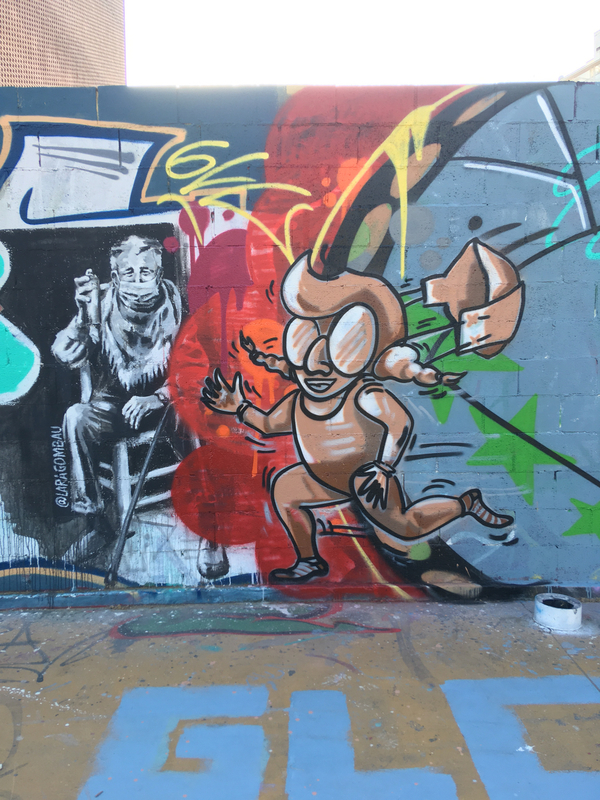 Wallspot - araL - fase1 -la desescalada - Barcelona - Tres Xemeneies - Graffity - Legal Walls -