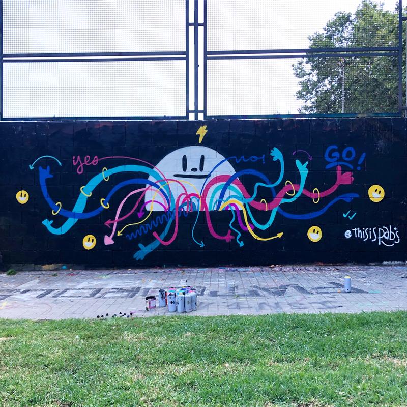 Wallspot - pabs - wait for the light  - Barcelona - Drassanes - Graffity - Legal Walls -