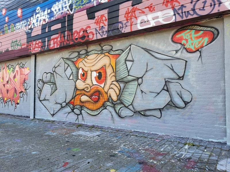 Wallspot - TopCat Design - Bricks - Rotterdam - Croos - Graffity - Legal Walls - Letters, Illustration