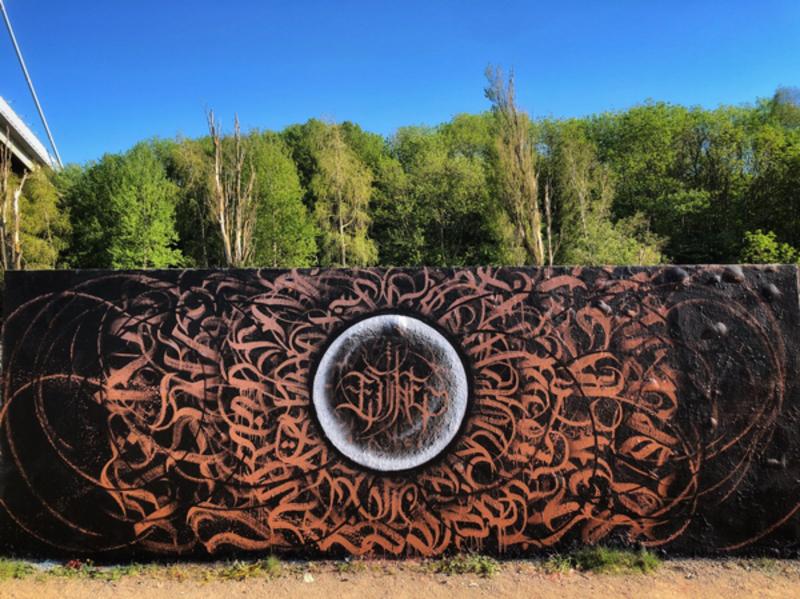 Wallspot - etile1 - copper  - Göteborg - Draken - Graffity - Legal Walls - Letters, Illustration