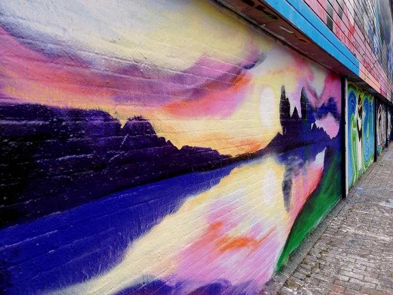 Wallspot - Trude - trying a landscape - Rotterdam - Croos - Graffity - Legal Walls - Illustration