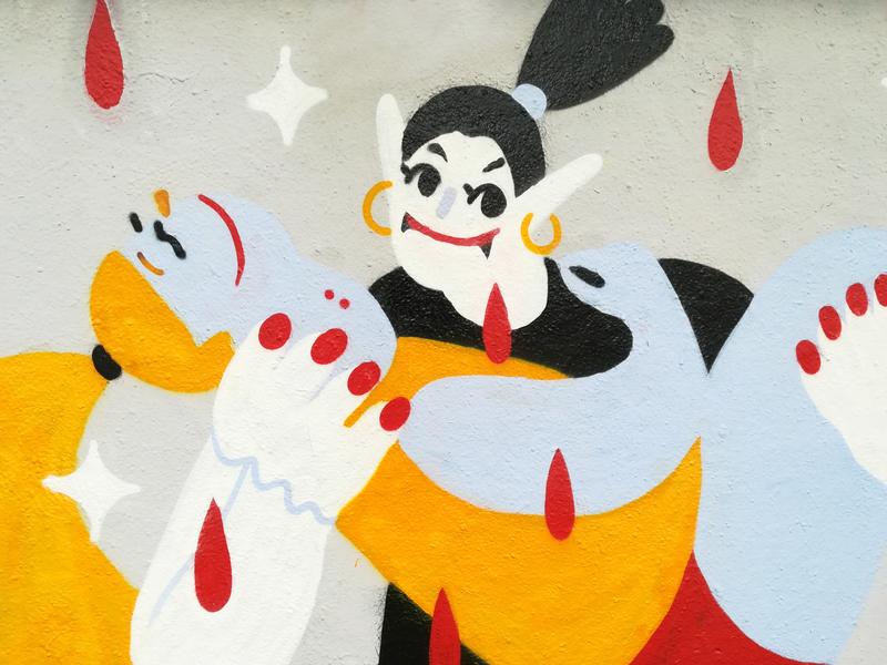 Wallspot - gemfontanals - La Vampira - Barcelona - Agricultura - Graffity - Legal Walls -