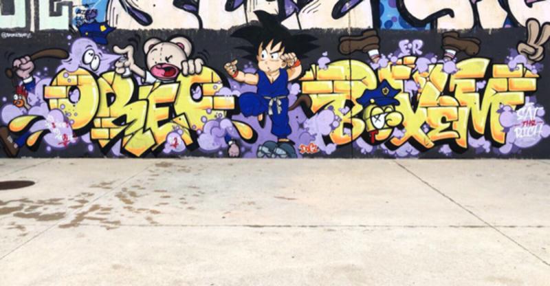 Wallspot - Zach OREO - Barcelona - Skate Park les corts - Graffity - Legal Walls - Lletres, Il·lustració
