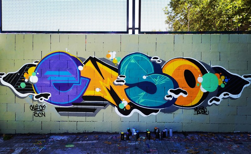 Wallspot - Msocle - Tres Xemeneies - Msocle - Barcelona - Tres Xemeneies - Graffity - Legal Walls - Letras