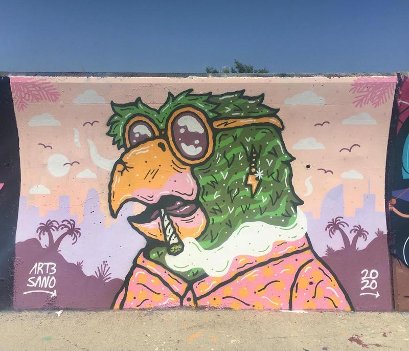 Wallspot - art3sano - Forum beach - art3sano - Barcelona - Forum beach - Graffity - Legal Walls -
