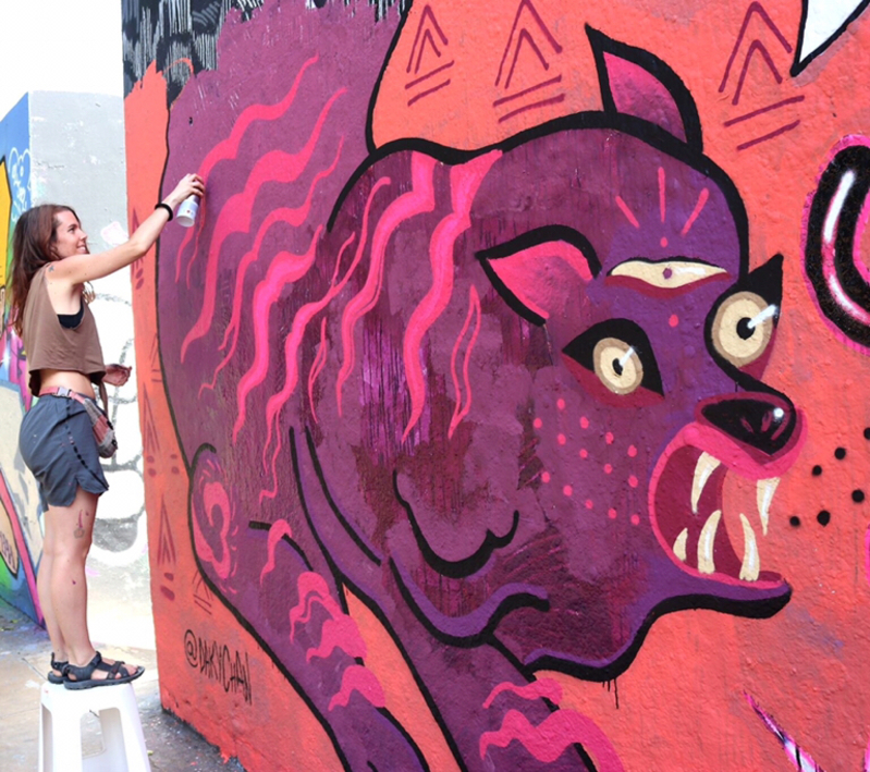 Wallspot - DakyChan - Barcelona - Tres Xemeneies - Graffity - Legal Walls - Ilustración