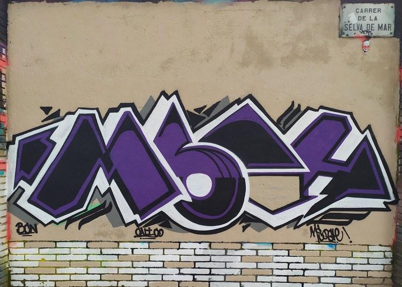 Wallspot - Msocle - Selva de Mar - Msocle - Barcelona - Selva de Mar - Graffity - Legal Walls - Lletres