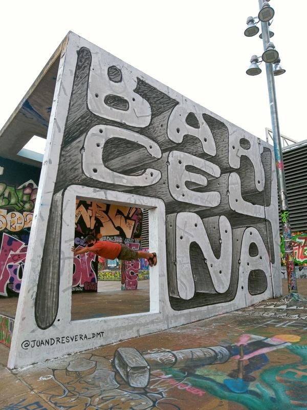 Wallspot - JUANDRES VERA - Barcelona (La puerta)  - Barcelona - CUBE tres xemeneies - Graffity - Legal Walls - ,