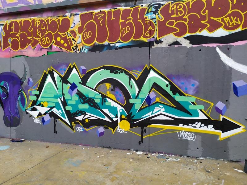 Wallspot - Msocle - Tres Xemeneies - Msocle - Barcelona - Tres Xemeneies - Graffity - Legal Walls -